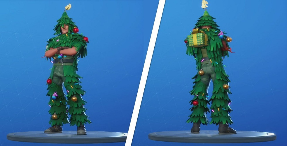 Epic Games Giving The Christmas Tree Skin Fortnite