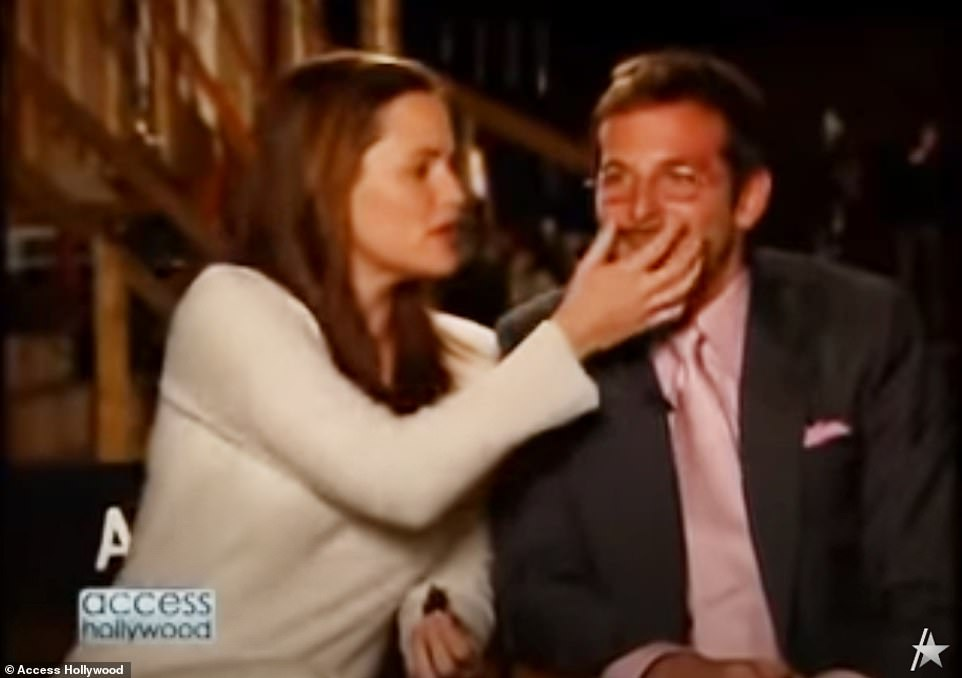 Sexy! In this old Access Hollywood clip from around 2006, Jennifer jokes that she and Bradley had been 'making out' behind-the-scenes of the show, after calling his fake mustache 'sexy' but that it 'tickled her lip'
