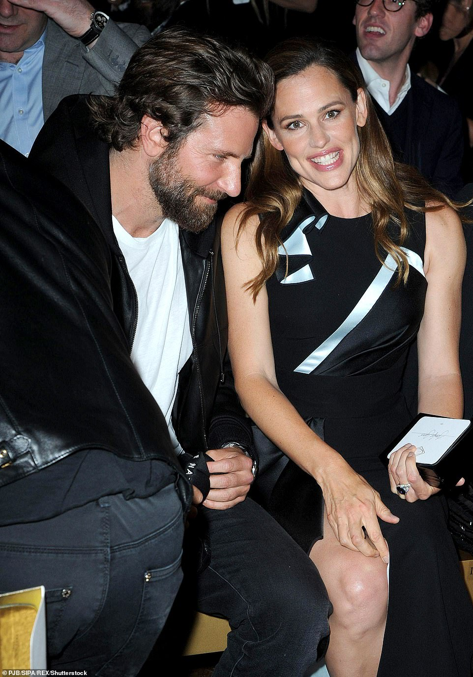 Close: Bradley and Jennifer pictured together at Paris Fashion Week in 2016