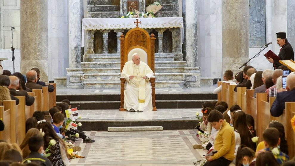 Where Islamic extremists ruled, pope calls on Christians to forgive and rebuild