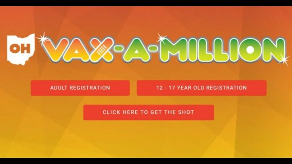 Today is the deadline to enter the first of five Ohio Vax-a-Million drawings