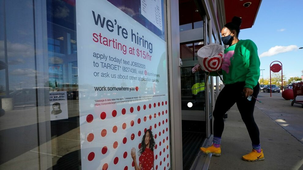 US jobless claims drop to 444,000, a new pandemic low