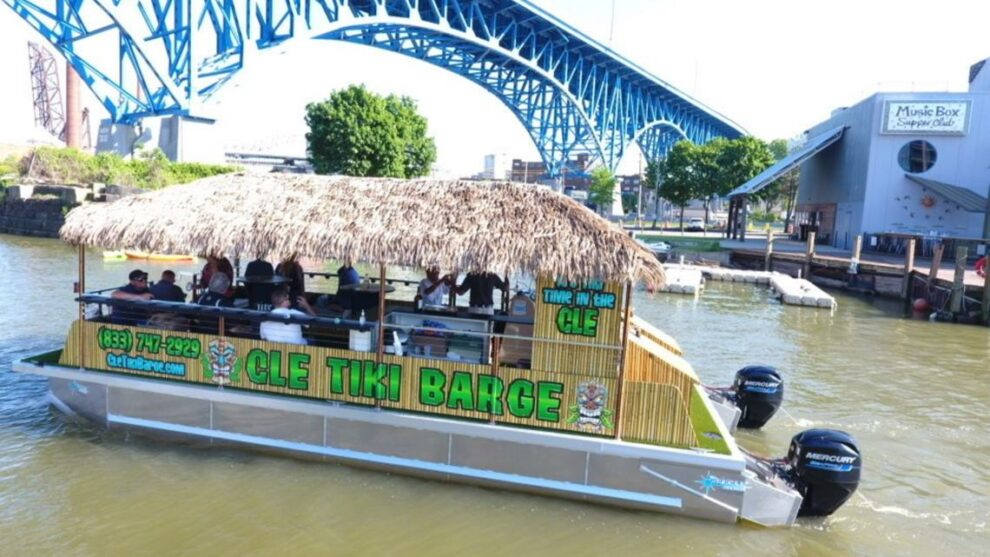 Tiki Barge collides with Nautica Queen in Cleveland weekend incident