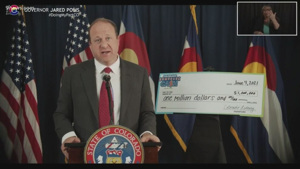 Colorado governor announces statewide COVID-19 vaccine sweepstakes with $1 million prizes