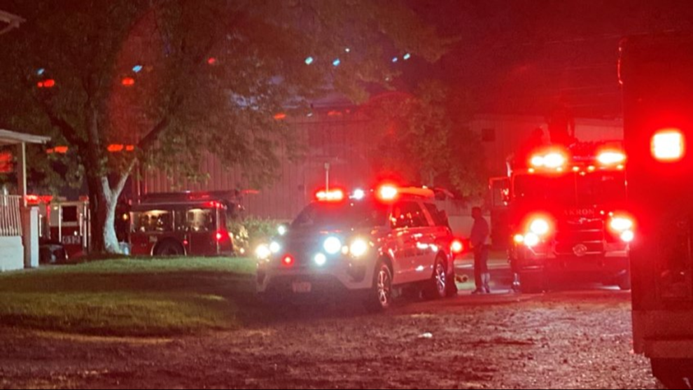 Crews battle hazardous materials fire at Akron Coating and Adhesives