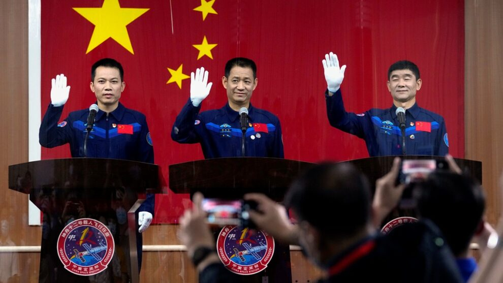 China sending 1st crew to new space station Thursday