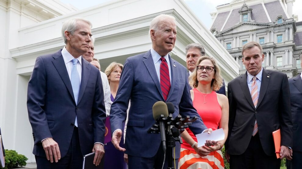 Biden: Infrastructure vow was not intended to be veto threat