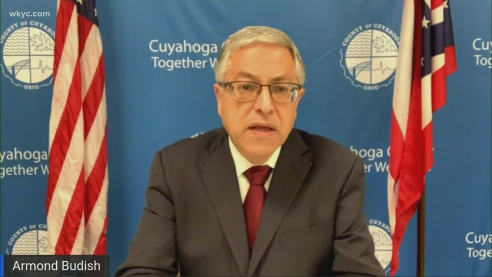 Cuyahoga County Executive Armond Budish, county health leaders hold COVID-19 briefing