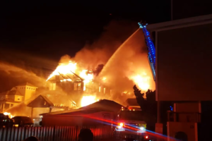 Over 70 people reportedly displaced following massive house fire in North Carolina; Four other homes damaged