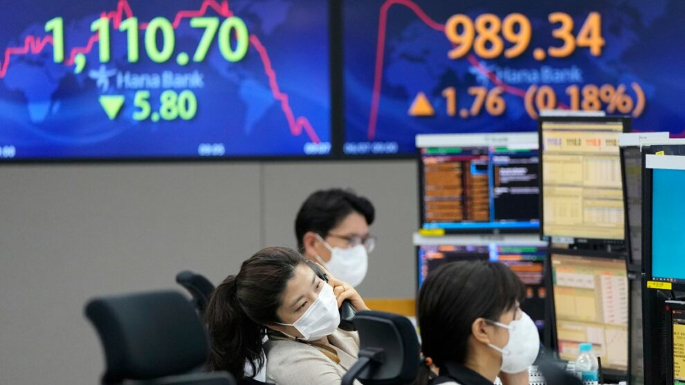 Global shares trade mixed as optimism wears off on US rally
