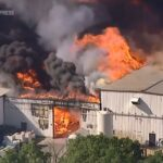 Chemical plant explosion in Illinois causes massive fire