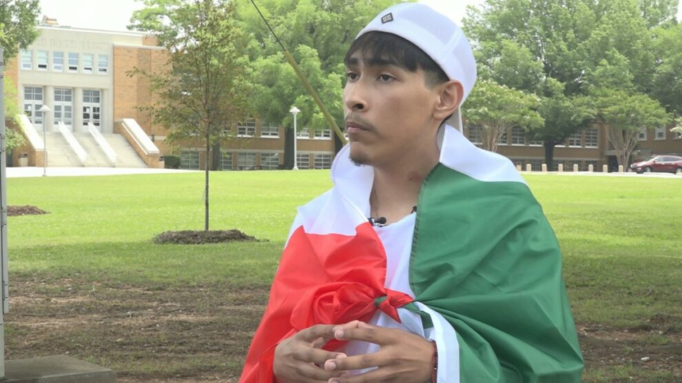 High school senior says he was denied his diploma because of Mexican flag