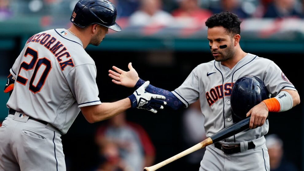 Indians swept by Houston Astros for the first time in franchise history