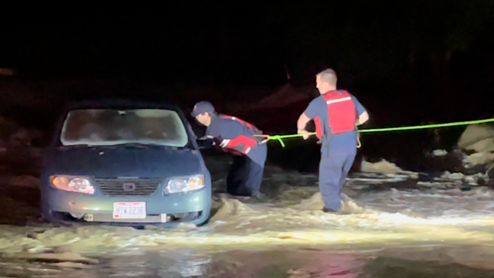 Car drives into creek in Parma Heights; 2 rescued