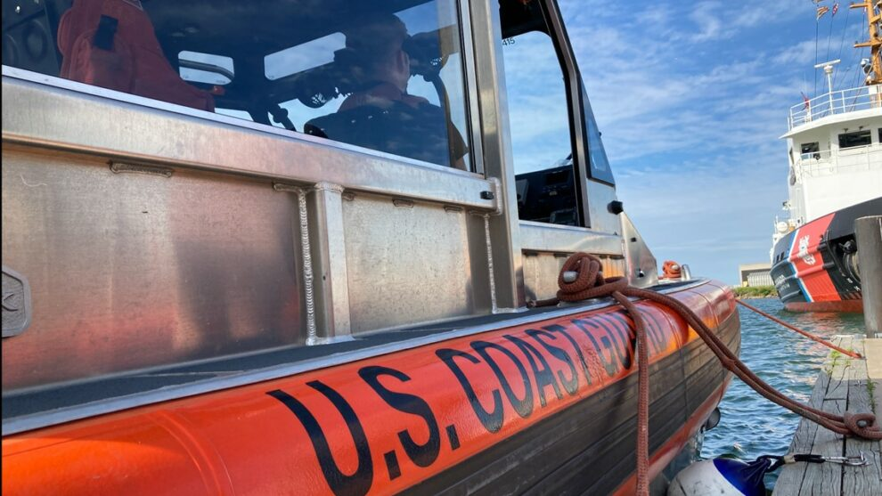 US Coast Guard officers provide CPR to woman who had appeared to have a heart attack near Fairport Harbor