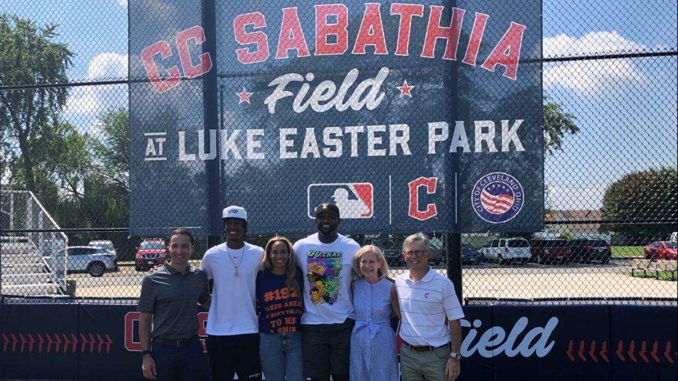 Cleveland Indians dedicate Luke Easter Park field to CC Sabathia; announce partnership with Get In The Game